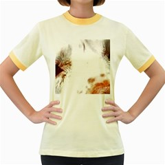 Spotted pattern Women s Fitted Ringer T-Shirt