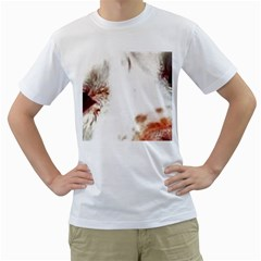 Spotted pattern Men s T-Shirt (White) (Two Sided)