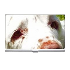 Clumber Spaniel Eyes Business Card Holders