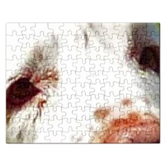 Clumber Spaniel Eyes Rectangular Jigsaw Puzzl