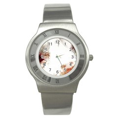 Spotted pattern Stainless Steel Watch