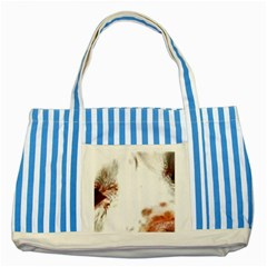Spotted pattern Striped Blue Tote Bag