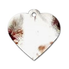 Spotted pattern Dog Tag Heart (One Side)