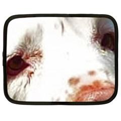 Clumber Spaniel Eyes Netbook Case (Large)