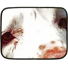 Clumber Spaniel Eyes Double Sided Fleece Blanket (Mini)