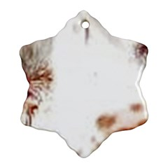 Spotted pattern Snowflake Ornament (Two Sides)