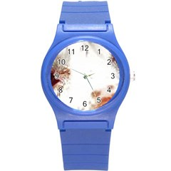 Spotted pattern Round Plastic Sport Watch (S)