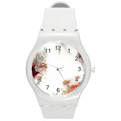 Spotted pattern Round Plastic Sport Watch (M)