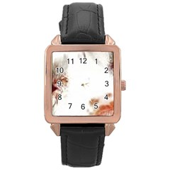 Spotted pattern Rose Gold Leather Watch