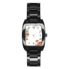 Spotted pattern Stainless Steel Barrel Watch