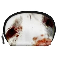 Clumber Spaniel Eyes Accessory Pouches (Large)