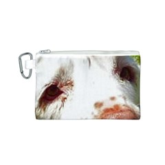Clumber Spaniel Eyes Canvas Cosmetic Bag (S)