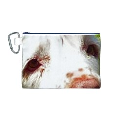Clumber Spaniel Eyes Canvas Cosmetic Bag (M)