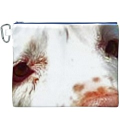 Clumber Spaniel Eyes Canvas Cosmetic Bag (XXXL)