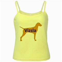 Vizsla Name Silo Color Yellow Spaghetti Tank