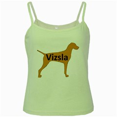 Vizsla Name Silo Color Green Spaghetti Tank
