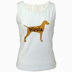Vizsla Name Silo Color Women s White Tank Top