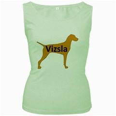 Vizsla Name Silo Color Women s Green Tank Top