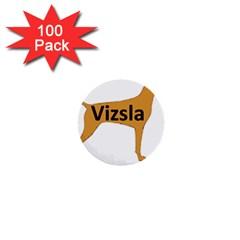 Vizsla Name Silo Color 1  Mini Buttons (100 pack)