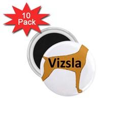 Vizsla Name Silo Color 1.75  Magnets (10 pack)