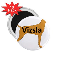 Vizsla Name Silo Color 2.25  Magnets (10 pack)