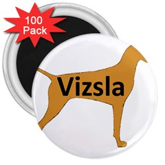 Vizsla Name Silo Color 3  Magnets (100 pack)
