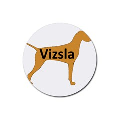 Vizsla Name Silo Color Rubber Coaster (Round)