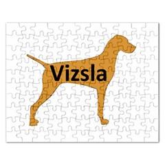 Vizsla Name Silo Color Rectangular Jigsaw Puzzl