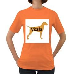 Vizsla Name Silo Color Women s Dark T-Shirt