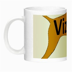 Vizsla Name Silo Color Night Luminous Mugs
