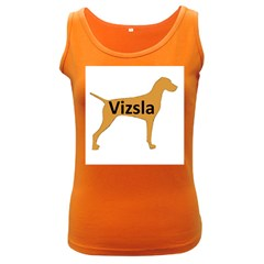 Vizsla Name Silo Color Women s Dark Tank Top