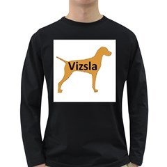 Vizsla Name Silo Color Long Sleeve Dark T-Shirts