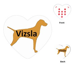 Vizsla Name Silo Color Playing Cards (Heart)