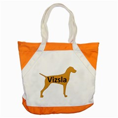 Vizsla Name Silo Color Accent Tote Bag