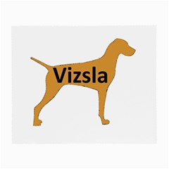 Vizsla Name Silo Color Small Glasses Cloth (2-Side)