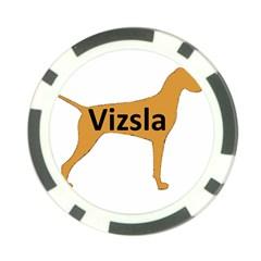 Vizsla Name Silo Color Poker Chip Card Guard