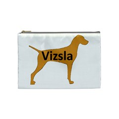 Vizsla Name Silo Color Cosmetic Bag (Medium)