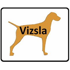 Vizsla Name Silo Color Fleece Blanket (Medium)