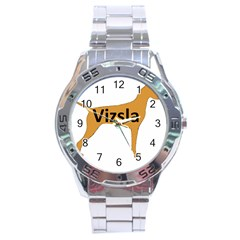 Vizsla Name Silo Color Stainless Steel Analogue Watch