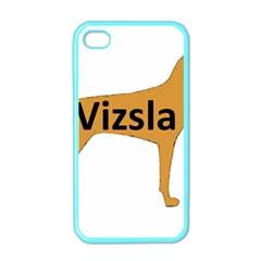 Vizsla Name Silo Color Apple iPhone 4 Case (Color)