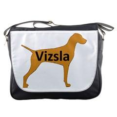Vizsla Name Silo Color Messenger Bags