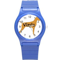 Vizsla Name Silo Color Round Plastic Sport Watch (S)