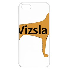 Vizsla Name Silo Color Apple iPhone 5 Seamless Case (White)