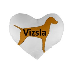 Vizsla Name Silo Color Standard 16  Premium Heart Shape Cushions