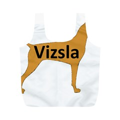 Vizsla Name Silo Color Full Print Recycle Bags (M)