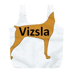 Vizsla Name Silo Color Full Print Recycle Bags (L)