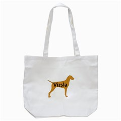 Vizsla Name Silo Color Tote Bag (White)