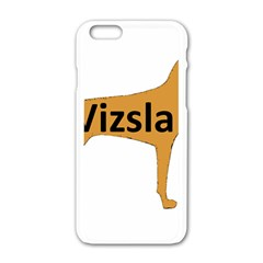 Vizsla Name Silo Color Apple iPhone 6/6S White Enamel Case