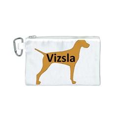 Vizsla Name Silo Color Canvas Cosmetic Bag (S)