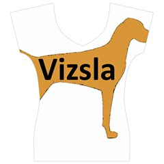 Vizsla Name Silo Color Women s V-Neck Cap Sleeve Top